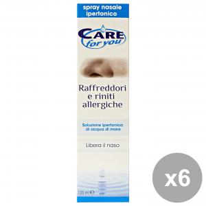 Set 6 CARE FOR YOU Soluzione RafFreddore-Rinite Allergica 125 Ml. Disinfettanti e igienizzanti