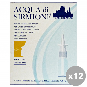 ACQUA DI SIRMIONE 12 Water Thermal Spray Nose X 6 Pieces Disinfectants