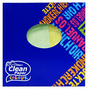 CLEAN Fazzoletti box quadrato * 60 pz. colorati 3 veli