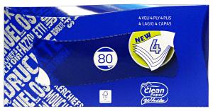 CLEAN Fazzoletti box * 80 pz. 4 veli - fazzoletti di carta