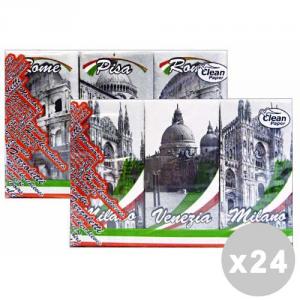 CLEAN Set 24 CLEAN Fazzoletti italy * 6 pz. - fazzoletti di carta