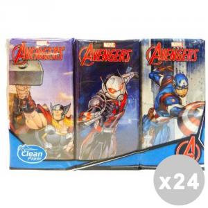 'CLEAN Set 24 CLEAN Fazzoletti ''avengers'' * 6 pz. - fazzoletti di carta'