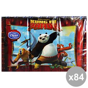'Set 24 CLEAN fazzoletti ''kung-fu panda'' x 6 pezzi cura del corpo'