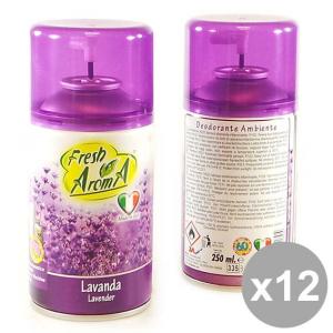 Set 12 FRESH Aroma Ric.Spray 250 Lavanda Deodoranti per la casa
