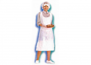 100 Pieces ICO Apron With harness Polyethylene White Man Clothing Work