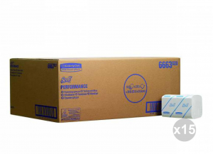 Set 15x212 (3180 pz totali) KIMBERLY-CLARK Asciugamani intercalati airflex scott 1 velo ff. 212