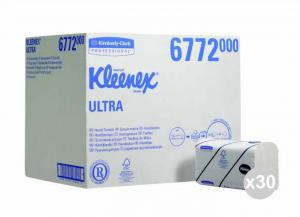 Set 30x94 (2820 pz totali) KIMBERLY-CLARK Asciugamani intercalati kleenex ultra grande 2 veli
