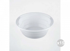 Set 15x50 750 Pieces Total ISAP Bowls White Strict Cc. 670 Solutions Space-saving
