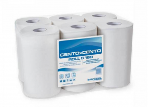 6 Pieces CARTINDUSTRIA EUROCARTA Towels Roll Micro-glued 2 Veils H 20/150