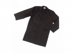 SIGGI Coat Record Black Polyester / cotton gr 130 Tg. 58 1 Piece Clothing Work Man