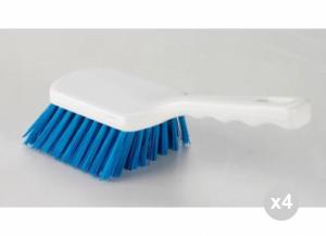 'Set 4 ARISTON Spazzola c/manico corto blu cm. 26 ''hygiene'' Detergenti per la casa'