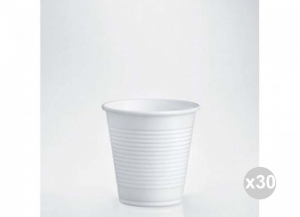 Set 30x100 3000 Pieces Total ISAP Glasses White Polypropylene Cc. 160 Kitchen Crockery And Accessories