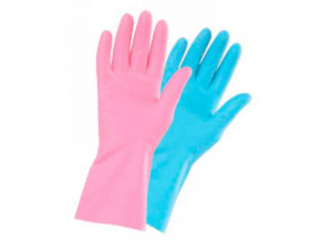 10 stücke ICO Latex-Handschuhe basic wiederverwendbar Plüsch tg. s Kleidung und Accessoires