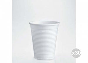 Set 30x100 (3000 pz totali) ISAP Bicchieri b 200 bianchi infrangibili pesanti cc. 200