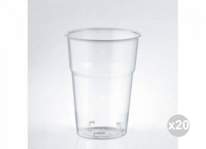 Set 20x50 (1000 Pieces Total ISAP Glasses Cristal Cc. 250 Lt 0.2 Kitchen Crockery And Accessories