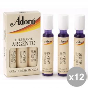 ADORN Set 12 Ampoules Argent X 3 Pièces Produits Pour les cheveux