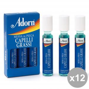 ADORN Set  12  Fiale Grassi X 3 Pezzi  Prodotti Per Capelli