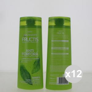 Set 12 FRUCTIS Shampoo 250 Antiforfora Normali Shampoo E Balsamo Prodotti per capelli
