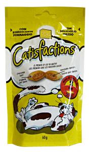 Catisfactions biscotti formaggio 60 gr.  - Cibo per gatti