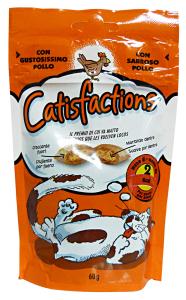 Catisfacciones Galletas Pollo 60 gr - Comida Para gatos