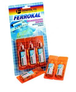 GENERAL FIX Ferrokal Decalcificante Rapido Per Ferro Da Stiro A Vapore 3 Fiale Da 20 Ml