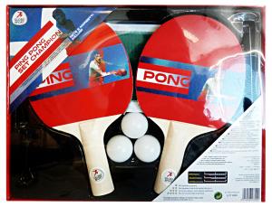 GLOBO Racchette Ping Pong Con Rete 47399 Giochi Per Bambini