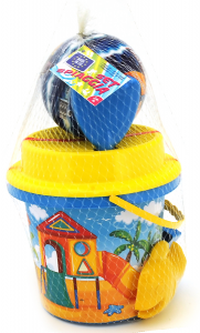 GLOBO Bucket Beach With Accessories 37755 Game For Children
