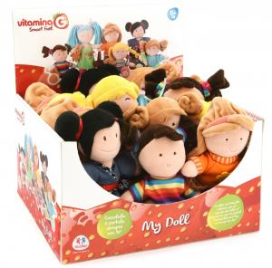 GLOBO Bambola stoffa 20 cm. - giocattoli