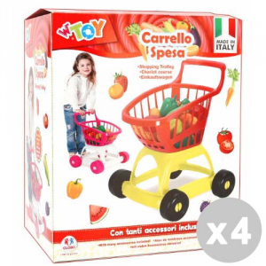GLOBO Set 4 GLOBO Shopping cart With Accessories - Toys