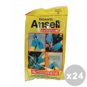 ANSELL Set 24 ANSELL Guanti extraforti taglia L - guanti