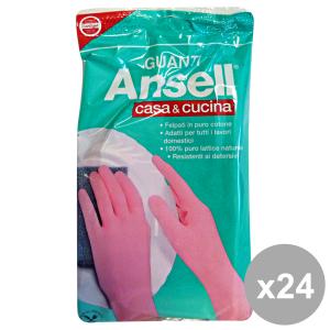 Set 24 ANSELL Guanti ROSA CASA&Cucina S Giardinaggio