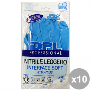 Set 10 DPL PROFESSIONAL Guanti Piatti NITRILE Anallergici XL Giardinaggio