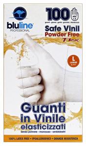 BLULINE Guanti X 100 Vinile FLEX Taglia L (Elasticizzato) Giardinaggio