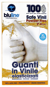 BLULINE Guanti X 100 Vinile FLEX Taglia XL (Elasticizzato) Giardinaggio