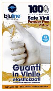 BLULINE Gloves X 100 Vinyl FLEX Cut XL Elasticized Gardening
