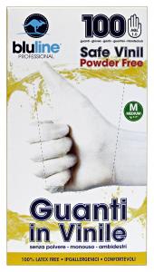 BLULINE Guanti X 100 Vinile Taglia M Giardinaggio