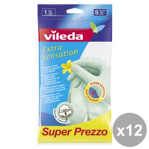Set 12 VILEDA Gloves Extra SENS.S Gardening