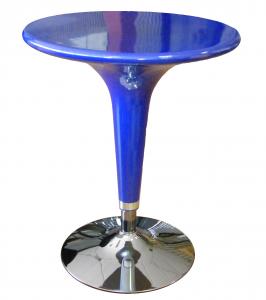 Tavolo Alzo A Gas Blu Cromato, Regolabile In Altezza, Tipo Bar, Diametro 60Cm