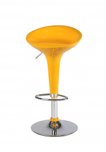 Abs Stool Yellow Ed Steel Chromed , Height Adjustable , Type Bar