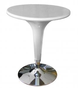 Tavolo Alzo A Gas Grigio Cromato, Regolabile In Altezza, Tipo Bar, Diametro 60Cm