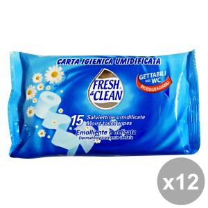 Set 12 FRESH AROMA Umidificata X 15 Strappi Carta Igienica Accessori per il bagno