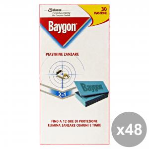 Set 48 BAYGON Piastrine X 30 Pezzi Articoli per insetti