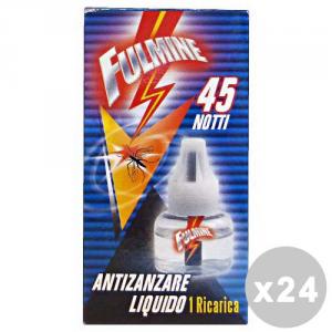 FULMINE Set 24 FULMINE Zanzare liquido ricarica 45 notti - insetticidi e repellenti