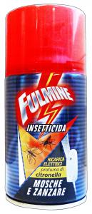FULMINE Mosche/zanzare elettrico ricarica 250 ml.