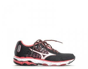 MIZUNO WAVE INSPIRE 12 Scarpe Sneakers Donna Nero/Rosso Tomaia In Poliuretano