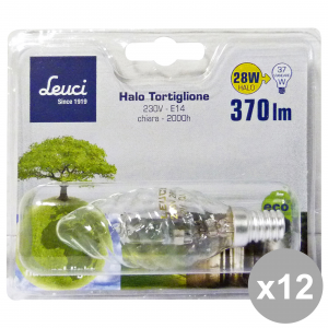Set 12 LEUCI Light bulb TORTIGL.28W.E14 444052 Lamp LOG. Electricity