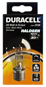 DURACELL Lamp.a goccia 28w e27 art.ea1 e3-a55 - Lampade e materiale elettrico