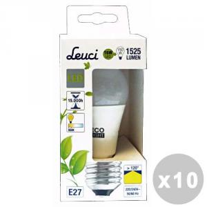 Set 10 Leuci Lampe à led Déposer 16w E27 = 150w