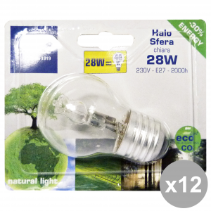 Set 12 LEUCI Light bulb SFERA E27 28W 44050 Lamp LOG. Electricity