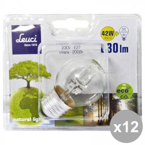 Set 12 LEUCI Glühbirne SFERA E27 42W 444051 Lampe LOG. Elektrizität